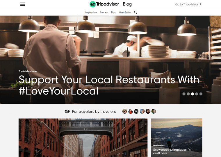 TripAdvisor Blog-examples of WordPress sites