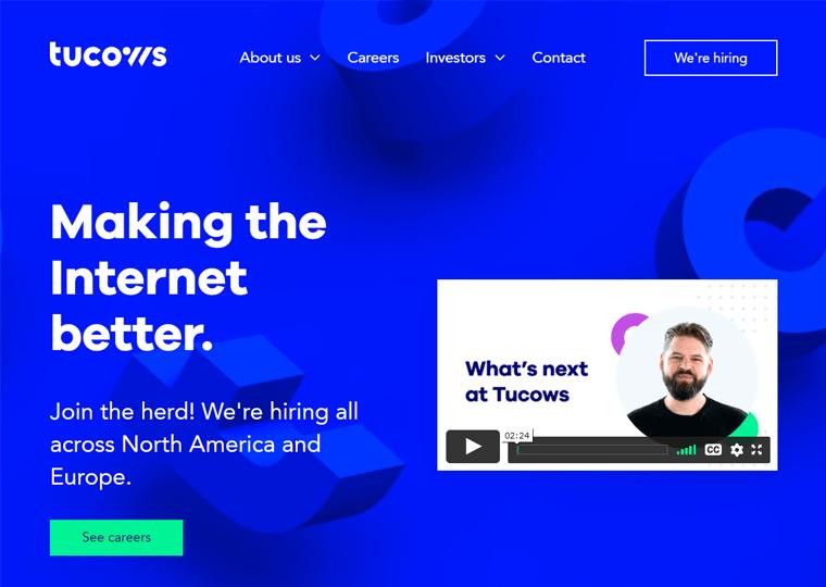 Tucows- best WordPress websites