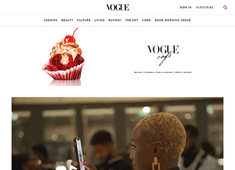 Vogue-WordPress site examples