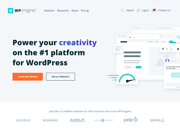 WP Engine- best WordPress site