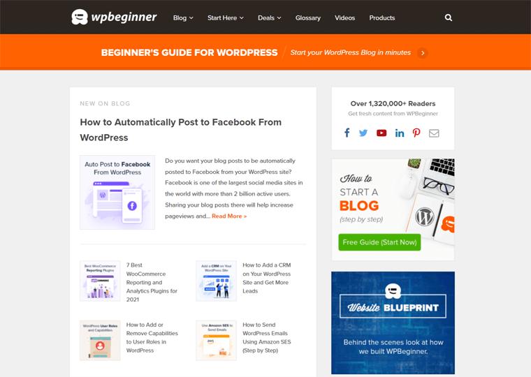 wpbeginner-best WordPress websites