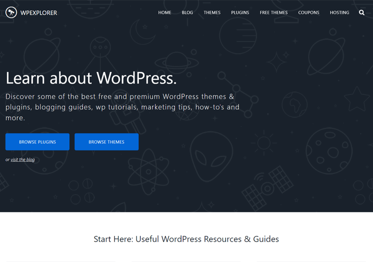 Wpexplore-examples of websites built with WordPress